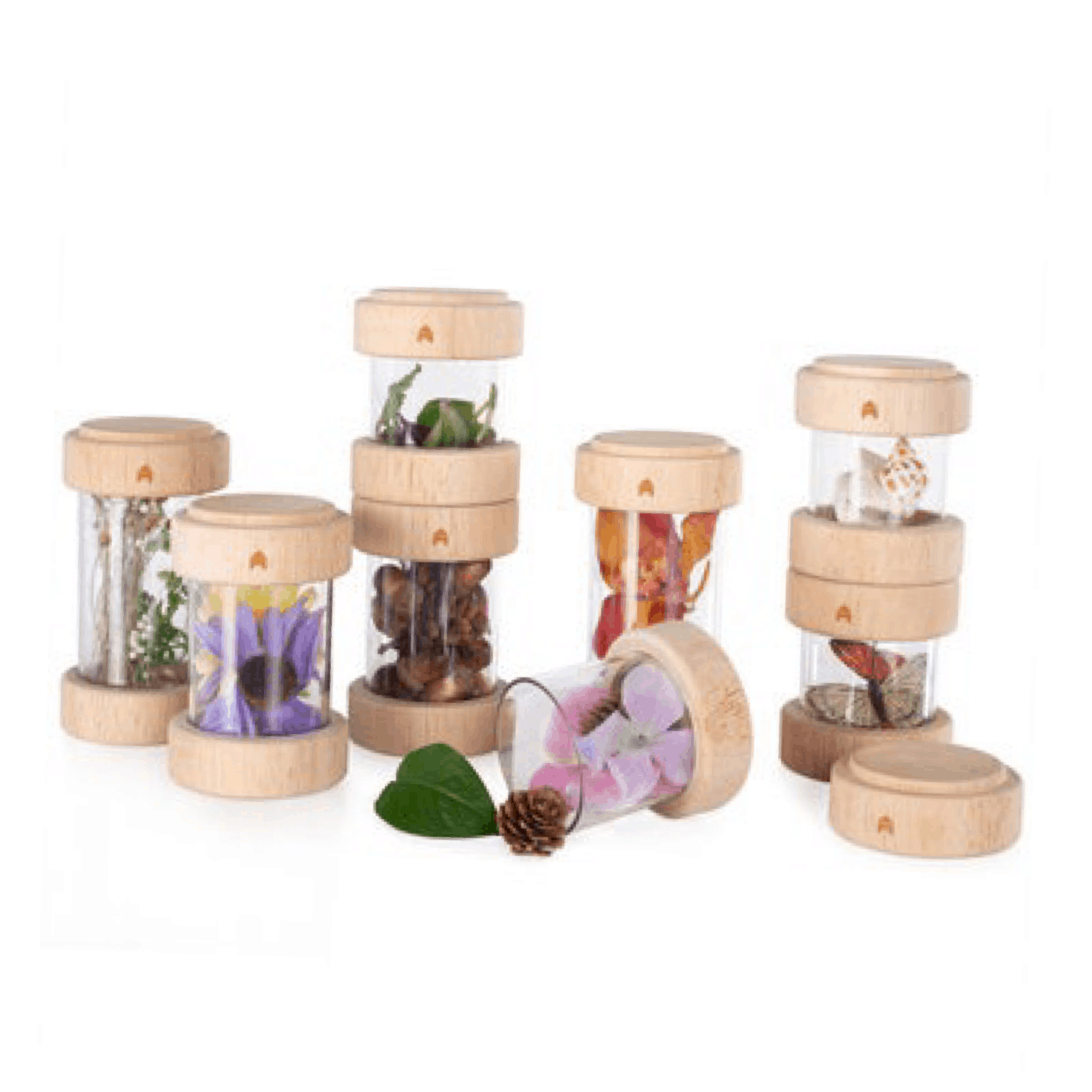 wooden treasure tubes